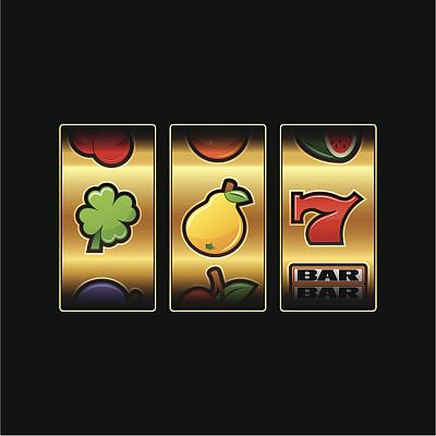 老虎机,机会游戏,休闲活动,梨,水果,樱桃,西瓜,绘画插图,三叶草,数字7
