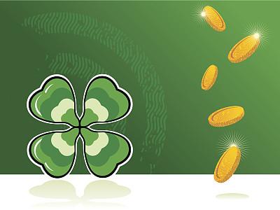 圣马洛,白昼,爱尔兰共和国,无人,绘画插图,凯尔特风格,圣帕特里克节,华丽的,植物,华贵