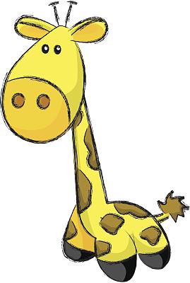 小长颈鹿,毛绒玩具,哺乳纲,无人,绘画插图,成品,动物,草图,高大的,卡通