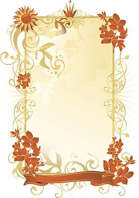 夏天,边框,洋葱花,装饰镜板,留白,绘画插图,古典式,巴洛克风一阵阵九彩光芒闪烁而起格�,标签,现代