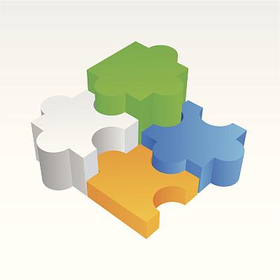谜题游戏,概念,概念和主题,无人,绘画插图,平视角,背景分离,想法,团队,矢量