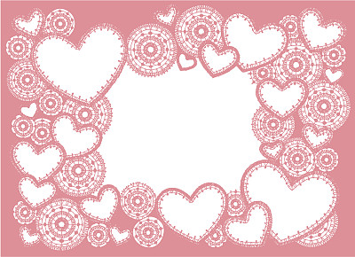 边框,粉色,乱画,圆形,绘画插图,长方形,婴儿,新生儿,心型,机织织物