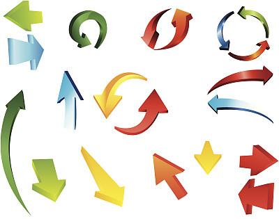 箭头符号,红色,符号,图标集,方向标,计算机图标,图像,组物体,设计元素,矢量