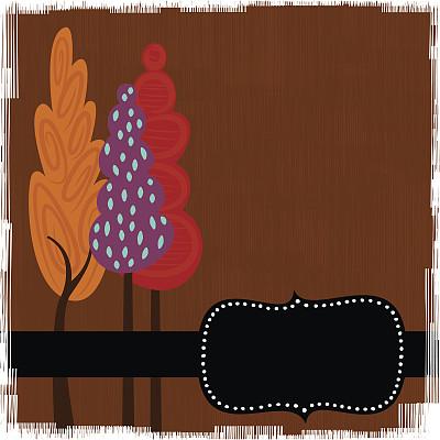 秋天,自然,橙色,无人,绘画插图,卡通,涂料,摇滚乐,方形画幅