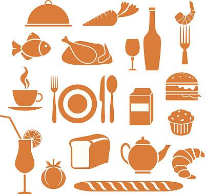 符号,食品,橙色,酒瓶,百吉饼,葡萄酒,松饼,咖啡杯,杯,餐具