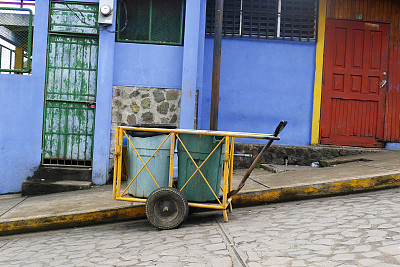 垃圾车,圣胡安河,尼加拉瓜,环境,图像,垃圾,山,旅游目的地,街道,户外