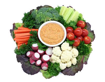 蔬菜沙拉,鹰嘴豆沙,餐盘,胡萝卜,水平画幅,枝繁叶茂,无人,生食,樱桃番茄,特写