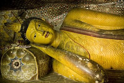 斯里兰卡,丹布勒石窟寺,丹布拉,泥墙画,国内著名景点,灵性,艺术,水平画幅,无人