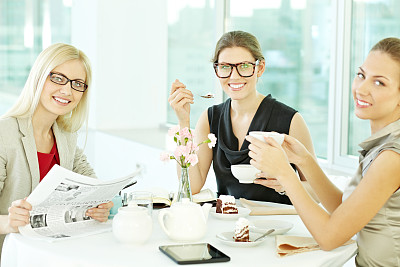 商务,女人,商务餐,商务关系,图像,经理,仅成年人,甜点心,现代,青年人