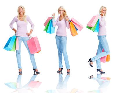 拿着,购物袋,儿童,自然美,女性,图像,白色,美,女人,水平画幅