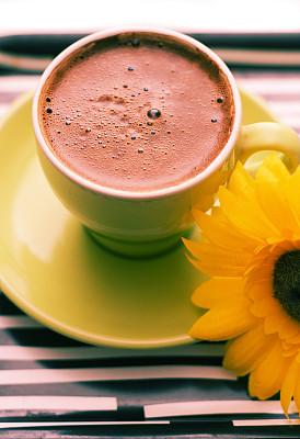 早晨,咖啡,土耳其清咖啡,垂直画幅,咖啡店,芳香的,商店,时间,饮料,仅一朵花