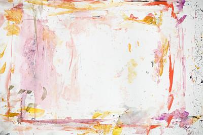 涂料,背景,留白,人造的,边框,艺术,水平画幅,纹理效果,艺术品