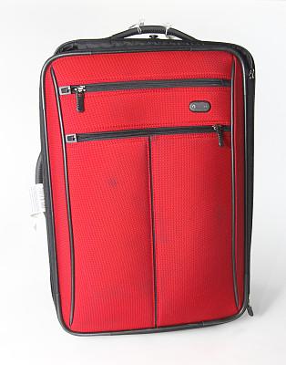 白色,手提箱,随身行李,轮式行李,垂直画幅,正面视角,留白,无人,古老的,行李