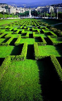 里斯本,明信片,爱德华七世公园,垂直画幅,公园,消失点,绿色,无人,雕像,风景