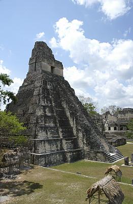 迪卡尔,危地马拉,寺庙,玛雅文明,垂直画幅,古代文明,中美洲,建筑,古代,无人