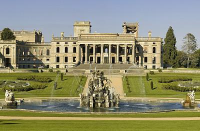 球场,仙女座,伍斯特郡,水平画幅,喷泉,古老的,英格兰,居住区,非凡的,英国