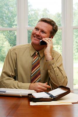 男商人,垂直画幅,办公室,电话机,美人,白人,男性,白领,白色,专业人员