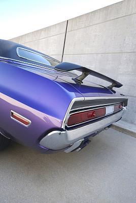 汽车尾翼,垂直画幅,古董车,美国,无人,古典式,交通,汽车,紫色,复古风格