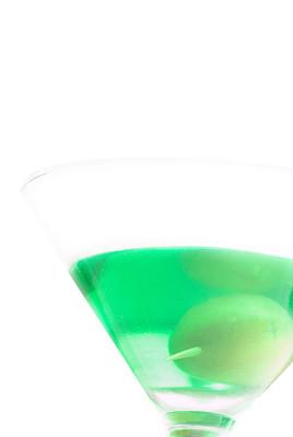 甜点心,碧玺,绿色,鸡尾酒,马提尼酒杯,垂直画幅,饮食,无人,含酒精饮料,背景分离