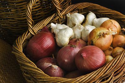 水平画幅,农作物,秋天,菜园,西班牙大葱,饮食,无人,洋葱,生食,篮子