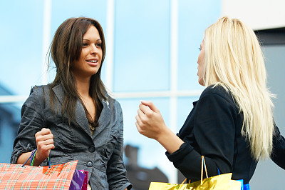 购物中心,顾客,商店,现代,青年人,魅力,购物狂,儿童,女人,女孩