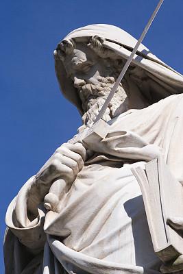 雕像,圣保罗市,纪念碑,大理石,灵性,半身像,旅游目的地,拿着,石材,垂直画幅