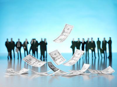 半空中,商务人士,一寸光阴一寸金,商务策略,储蓄,水平画幅,男商人,男性,美国百元钞票,不锈钢