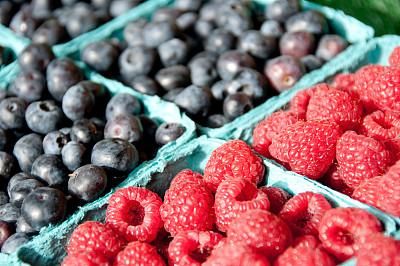 派克市场,水果,西雅图,水平画幅,无人,蓝色,红色,华盛顿州,市区,成分