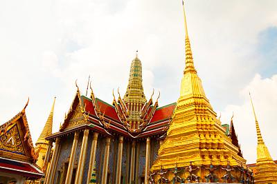 佛,碧隆天神殿,玉佛寺,黄金,水平画幅,建筑,无人,泰国,建筑结构,曼谷