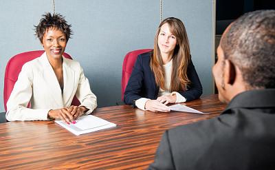 商务会议,多样,办公室,女人,水平画幅,会议,人,白人,非裔美国人,男性