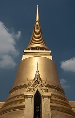 玉佛寺,曼谷,垂直画幅,低视角,黄金,无人,涂料,特写,泰国,佛塔