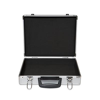 金属质感,手提箱,公文包,金属,开着的,个人随身用品,银色,无人,铝,行李