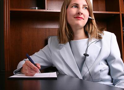 办公室,美,青少年,耳麦,水平画幅,顾客,美人,图像,经理,专业人员