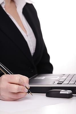 女商人,垂直画幅,办公室,领导能力,笔记本电脑,套装,白人,图像,仅成年人,部分