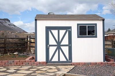 棚,后院,工具,天空,水平画幅,器材箱,谷仓,无人,户外,刚性