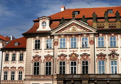 屋顶,瓦,建筑,布拉格,捷克,办公室,天空,艺术,水平画幅,无人