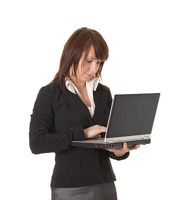 笔记本电脑,青年人,女人,雅皮士,垂直画幅,美,美人,套装,白人