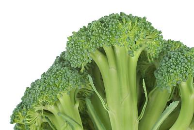 西兰花,大特写,茎,留白,饮食,水平画幅,绿色,十字花科,无人,生食
