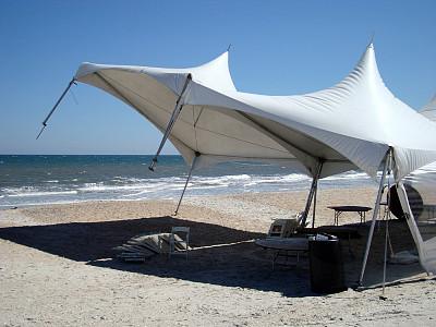 风,帐篷,海滩,垃圾筒,自然,图像,佛罗里达,树荫,海洋,无人