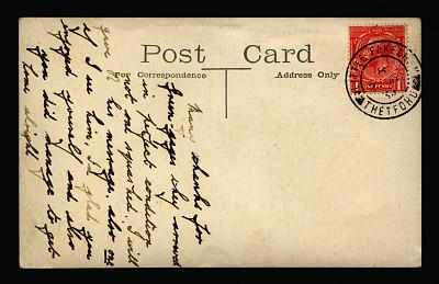 明信片,george v,诺福克,20世纪风格,留白,古董,水平画幅,消息,无人,古老的