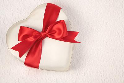 蝴蝶结,红色,白色,缎子,心型,组图,留白,水平画幅,纺织品,浪漫