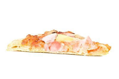 低视角,比萨片,夏威夷披萨,水平画幅,无人,膳食,莫扎瑞拉奶酪,奶酪,食用菌,白色