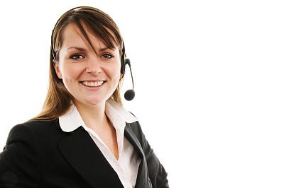 客户服务代表,幸福,耳麦,水平画幅,快乐,白色背景,人,影棚拍摄,商务人士,彩色图片