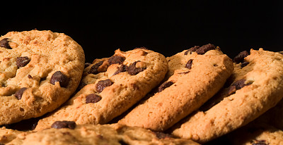 饼干,巧克力脆饼,饮食,水平画幅,不健康食物,巧克力脆片,烘焙糕点,面包店,巧克力,小吃