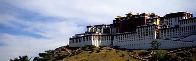 布达拉宫,垂直画幅,旅游目的地,建筑,无人,宫殿,全景,东亚,建筑外部