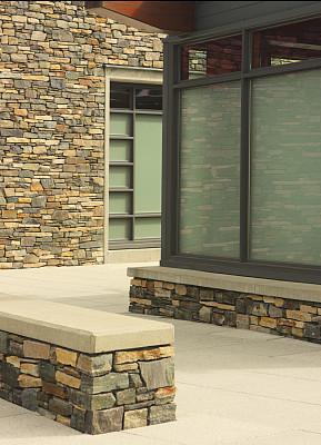 石头,现代,建筑,墙,窗户,建筑外部,家用建筑,隐蔽处,壁室,建筑中庭