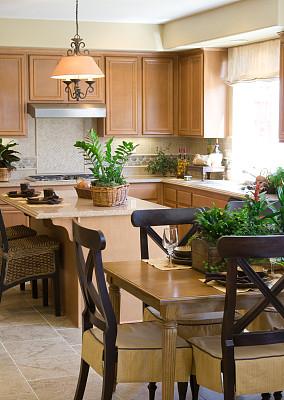 厨房,设计师,自然美,早餐室,垂直画幅,无人,椅子,玻璃,膳食