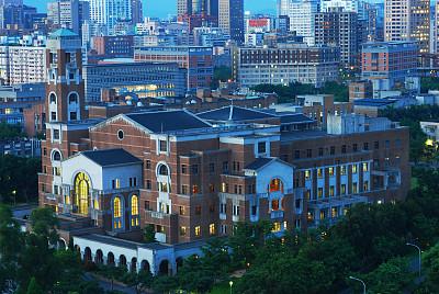 大学,图书馆,校园,水平画幅,曙暮光,黄昏,工业,亚洲,大学生,图像