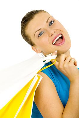 女人,垂直画幅,美,顾客,现代,青年人,白色,魅力,成年的,休闲装