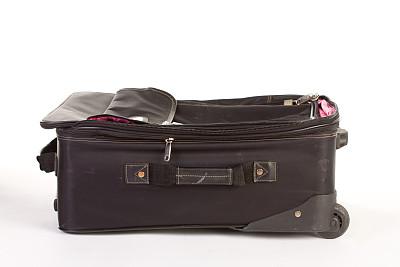 手提箱,正下方视角,古典式,脉动,轮式行李,车轮,水平画幅,无人,商务旅行,白色背景